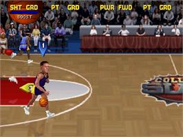 In game image of College Slam on the Sega Saturn.