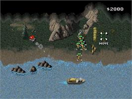 In game image of Command & Conquer: Teil 1: Der Tiberiumkonflikt on the Sega Saturn.