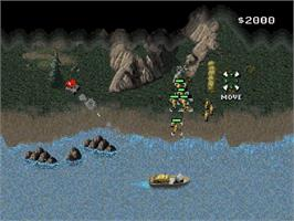 In game image of Command & Conquer on the Sega Saturn.