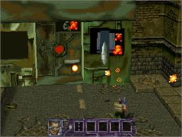 In game image of Contra: Legacy of War on the Sega Saturn.