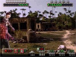 In game image of Corpse Killer - Graveyard Edition on the Sega Saturn.