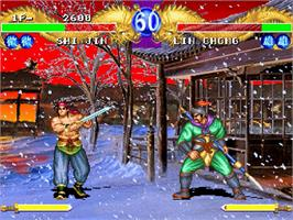 In game image of Dark Legend on the Sega Saturn.