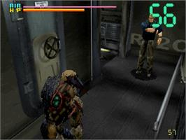 In game image of Deep Fear on the Sega Saturn.