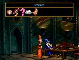 In game image of Discworld on the Sega Saturn.