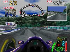In game image of F1 Challenge on the Sega Saturn.