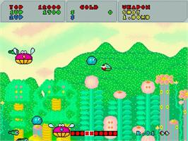 In game image of Fantasy Zone on the Sega Saturn.