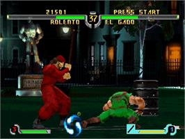 In game image of Final Fight Revenge on the Sega Saturn.