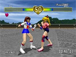 In game image of Fist on the Sega Saturn.