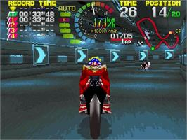 In game image of Hang-On GP on the Sega Saturn.
