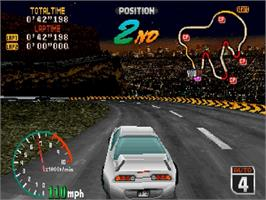 In game image of High Velocity: Mountain Racing Challenge on the Sega Saturn.