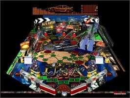 In game image of Hyper 3-D Pinball on the Sega Saturn.