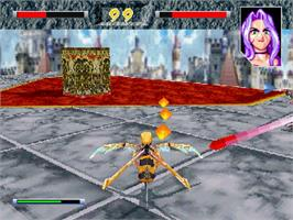 In game image of Hyper Reverthion on the Sega Saturn.