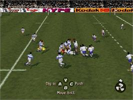 In game image of Jonah Lomu Rugby on the Sega Saturn.
