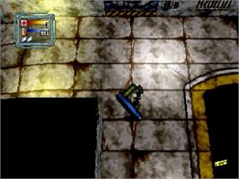 In game image of Loaded on the Sega Saturn.