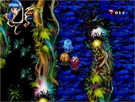 In game image of Magic Knight Rayearth on the Sega Saturn.