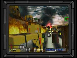 In game image of Maximum Force on the Sega Saturn.