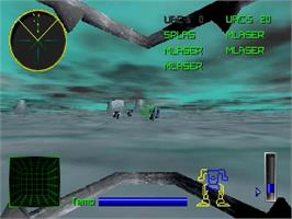 In game image of MechWarrior 2: 31st Century Combat on the Sega Saturn.