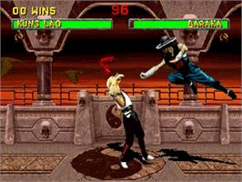 In game image of Mortal Kombat II on the Sega Saturn.