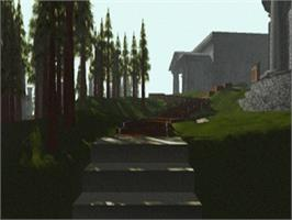 In game image of Myst on the Sega Saturn.