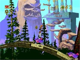 In game image of Pandemonium on the Sega Saturn.