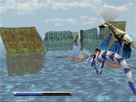 In game image of Panzer Dragoon: Playable Preview on the Sega Saturn.