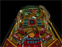 In game image of Pinball Graffiti on the Sega Saturn.