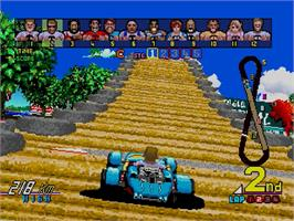 In game image of Power Drift on the Sega Saturn.