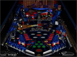 In game image of Pro Pinball: The Web on the Sega Saturn.