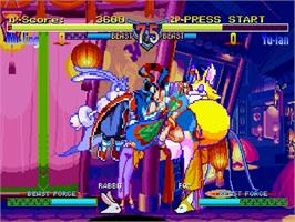 In game image of Rabbit on the Sega Saturn.