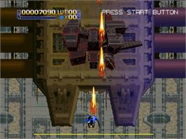 In game image of Radiant Silvergun on the Sega Saturn.
