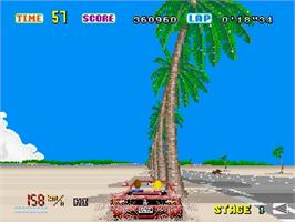 In game image of SEGA AGES: Columns Arcade Collection on the Sega Saturn.