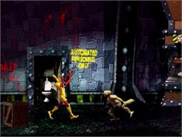 In game image of Scud: The Disposable Assassin on the Sega Saturn.