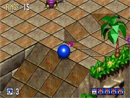 In game image of Sonic 3D Blast on the Sega Saturn.