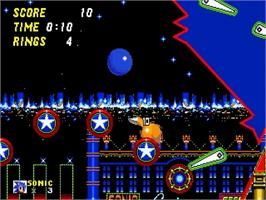 In game image of Sonic Jam on the Sega Saturn.