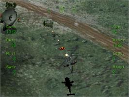 In game image of Soviet Strike on the Sega Saturn.
