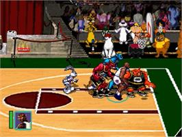 In game image of Space Jam on the Sega Saturn.