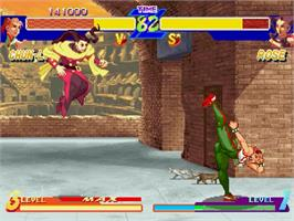 In game image of Street Fighter Alpha: Warriors' Dreams on the Sega Saturn.