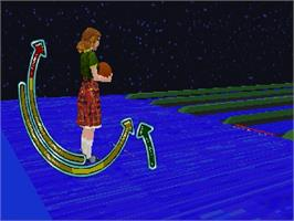 In game image of Ten Pin Alley on the Sega Saturn.