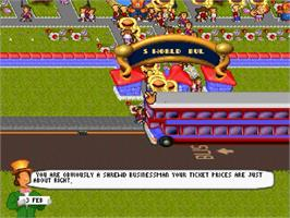 In game image of Theme Park on the Sega Saturn.