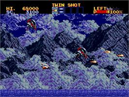 In game image of Thunder Force: Gold Pack 2 on the Sega Saturn.