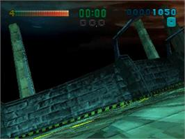 In game image of Tunnel B1 on the Sega Saturn.