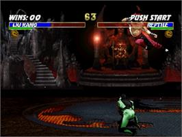 In game image of Ultimate Mortal Kombat 3 on the Sega Saturn.