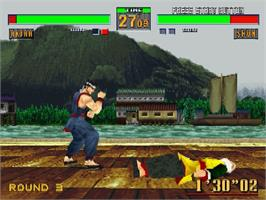 In game image of Virtua Fighter 2 on the Sega Saturn.