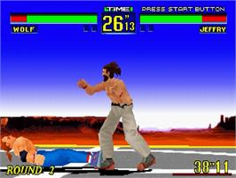 In game image of Virtua Fighter Remix on the Sega Saturn.