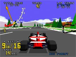 In game image of Virtua Racing on the Sega Saturn.