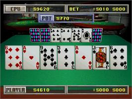 In game image of Virtual Casino on the Sega Saturn.