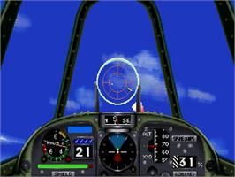 In game image of Wing Arms on the Sega Saturn.