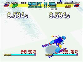 In game image of Winter Heat on the Sega Saturn.