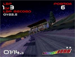 In game image of Wipeout on the Sega Saturn.