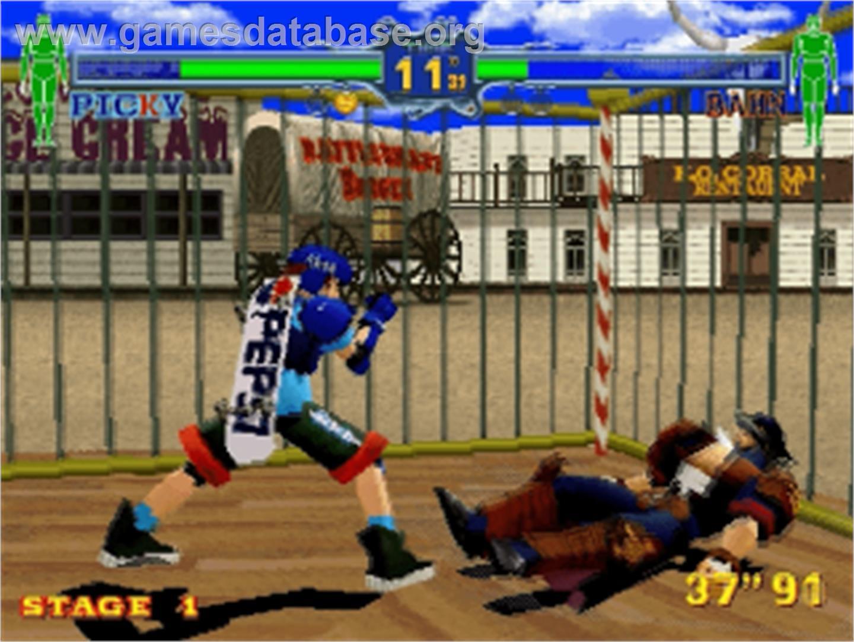 Fighting Vipers Sega Saturn Artwork In Game